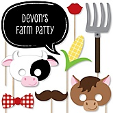 Farm Animals - Baby Shower Photo Booth Props Kit - 20 Props