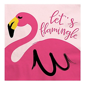 Flamingo - Party Like a Pineapple - Baby Shower Luncheon Napkins - 16 Pack