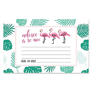 Flamingo - Party Like a Pineapple - GirlBaby Shower Helpful Hint Advice Cards Game - 18 Count