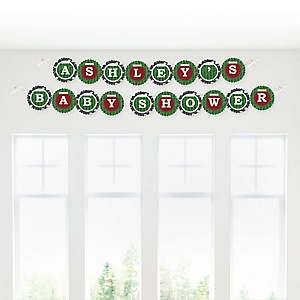 End Zone - Football - Personalized Baby Shower Garland Letter Banners