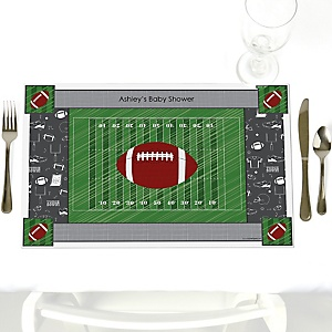 End Zone - Football - Personalized Baby Shower Placemats
