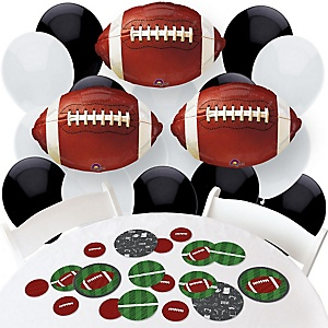 End Zone - Football - Confetti and Balloon Party Decorations - Combo Kit