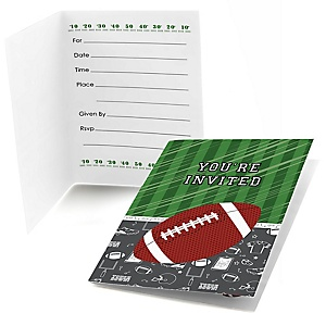 End Zone - Football - Fill In Baby Shower Invitations - Set of  8