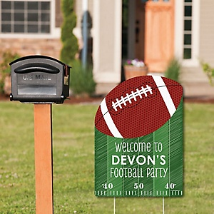 End Zone - Football - Party Decorations - Birthday Party or Baby Shower Personalized Welcome Yard Sign