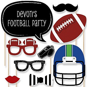 End Zone - Football - Baby Shower Photo Booth Props Kit - 20 Props