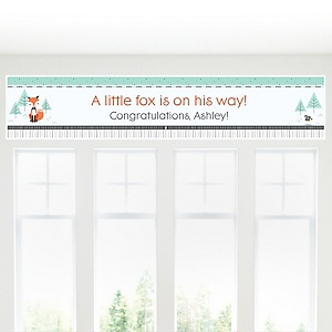 Mr. Foxy Fox - Personalized Baby Shower Banner