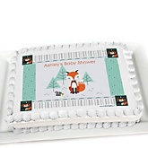 Mr. Foxy Fox - Personalized Baby Shower Cake Image Topper