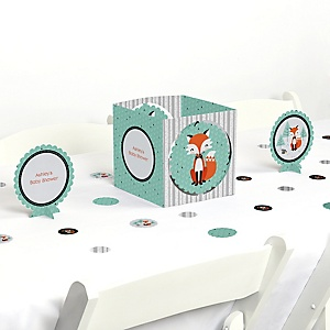 Mr. Foxy Fox - Baby Shower Centerpiece & Table Decoration Kit