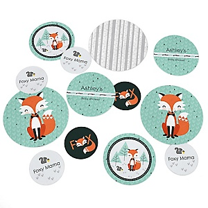 Mr. Foxy Fox - Personalized Baby Shower Table Confetti - 27 ct