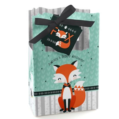 Mr. Foxy Fox   Personalized Baby Shower Favor Boxes