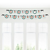 Mr. Foxy Fox - Personalized Baby Shower Garland Banner
