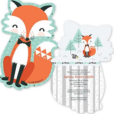 Mr. Fox Boy Baby Shower Invitations