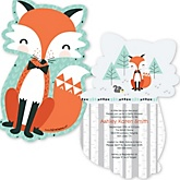 Mr. Foxy Fox - Shaped Baby Shower Invitations