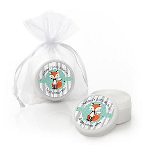 Mr. Foxy Fox - Lip Balm Personalized Baby Shower Favors