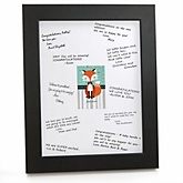Mr. Foxy Fox - Personalized Baby Shower Print with Signature Mat