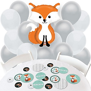 Mr. Foxy Fox - Confetti and Balloon Party Decorations - Combo Kit