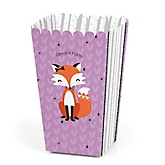 Miss Foxy Fox - Personalized Baby Shower Popcorn Boxes