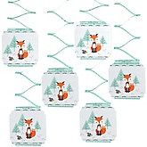 Mr. Foxy Fox - Baby Shower Hanging Decorations - 6 Count
