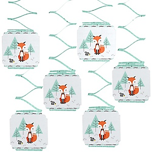Mr. Foxy Fox - Baby Shower Hanging Decorations - 6 ct