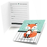 Mr. Foxy Fox - Fill In Baby Shower Invitations - Set of  8