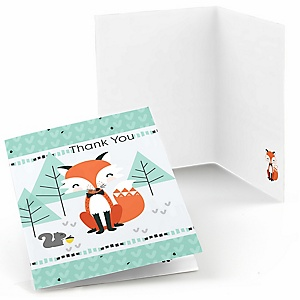 Mr. Foxy Fox - Baby Shower Thank You Cards - Set of  8