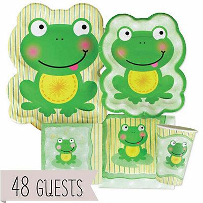 Froggy Frog Baby Shower Tableware - 48 Big Dot Bundle