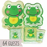 Froggy Frog - Baby Shower Tableware Bundle for 64 Guests