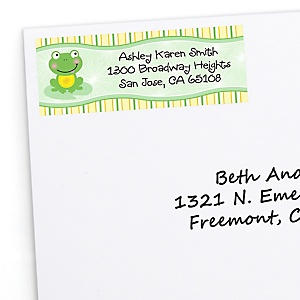 Froggy Frog - Personalized Baby Shower Return Address Labels - 30 ct