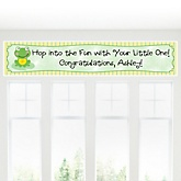 Froggy Frog - Personalized Baby Shower Banner