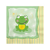 Froggy Frog - Baby Shower Beverage Napkins - 16 Pack