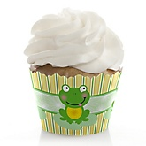Froggy Frog - Baby Shower Cupcake Wrappers & Decorations