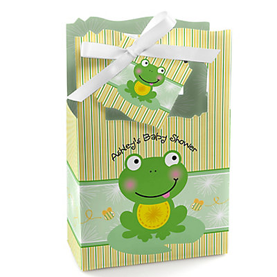 Froggy Frog - Personalized Baby Shower Favor Boxes...