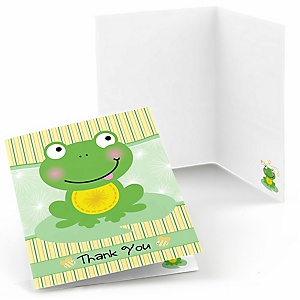 Froggy Frog - Baby Shower Thank You Cards - Set of  8