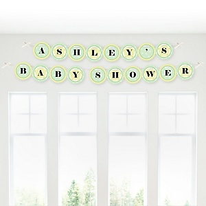 Froggy Frog - Personalized Baby Shower Garland Banner
