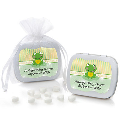 Froggy Frog - Mint Tin Personalized Baby Shower Favors...