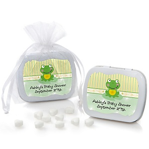 Froggy Frog - Mint Tin Personalized Baby Shower Favors