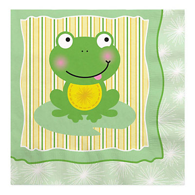 froggy frog baby shower luncheon napkins 16 ct bigdotofhappiness