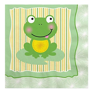 Froggy Frog - Baby Shower Luncheon Napkins - 16 ct