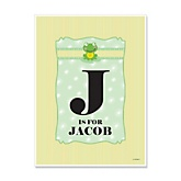 Froggy Frog - Personalized Baby Shower Poster Gifts