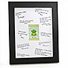 Froggy Frog - Personalized Baby Shower Signature Mat Gift