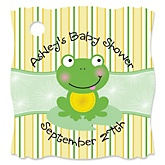 Froggy Frog - Personalized Baby Shower Tags - 20 Count