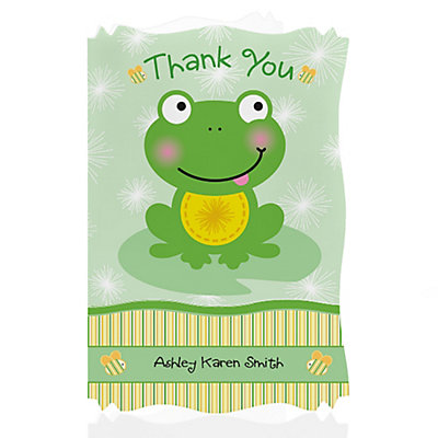 froggy frog baby shower thank you cards thumb