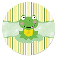 froggy frog baby shower fill in invitations 8 ct