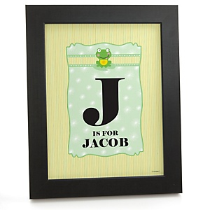 Froggy Frog - Personalized Nursery Wall Art Gift