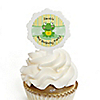 Froggy Frog - Personalized Birthday Party Cupcake Pick and Sticker Kit - 12 ct