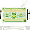 Froggy Frog - Personalized Birthday Party Placemats