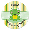 Froggy Frog - Personalized Birthday Party Sticker Labels - 24 ct