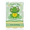 Froggy Frog - Personalized Birthday Party Thank You Cards