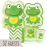 Froggy Frog - Baby Shower Tableware Bundle for 32 Guests
