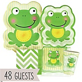 Froggy Frog - Baby Shower Tableware Bundle for 48 Guests
